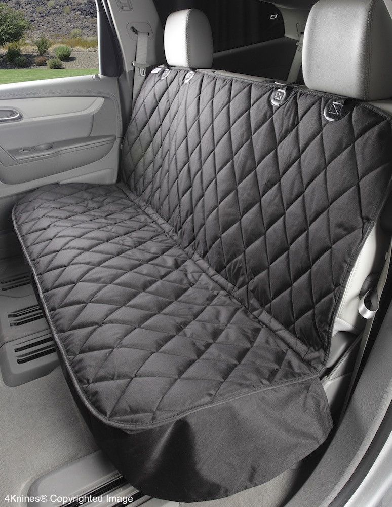 Fitted Seat Cover Rear Bench Black Regular Non Hammock