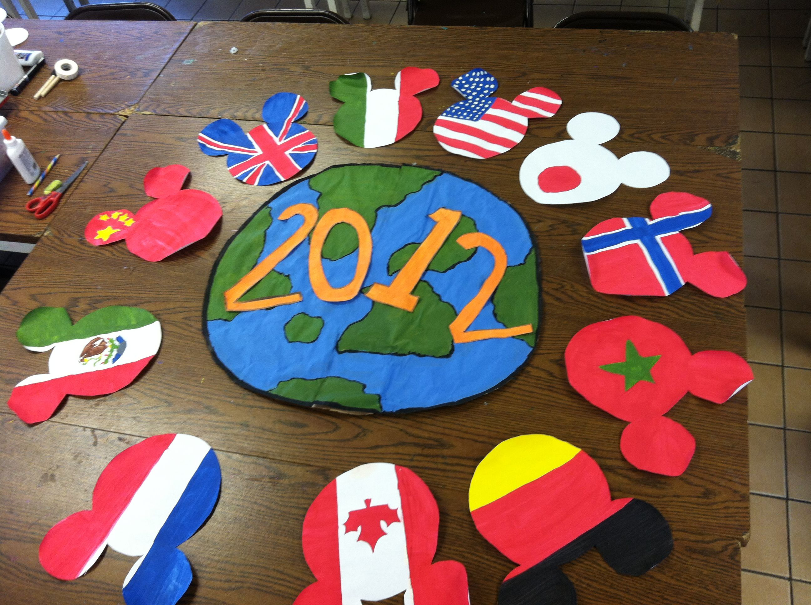 Multicultural Classroom Decor ~ My take on an around the world theme english pinterest