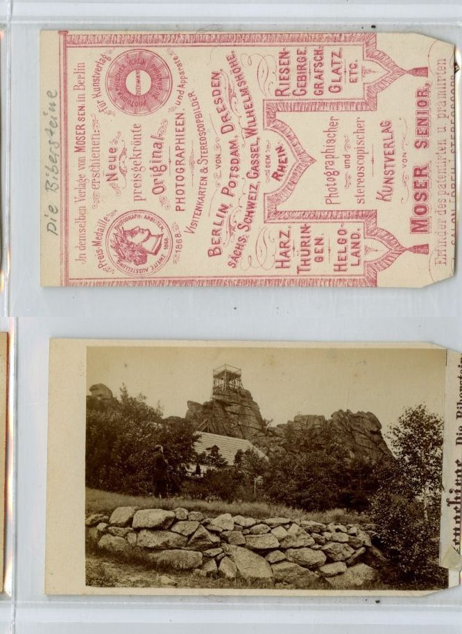 Moser Berlin Allemagne Die Riberstein CDV Vintage Albumen Carte De Visite