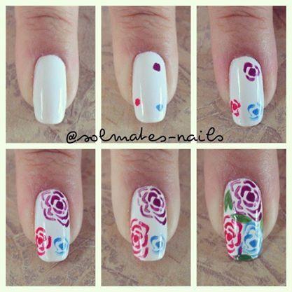 Paso a Paso Flores en uñas #DiseñosDeUñas