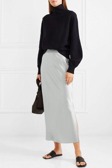 8568e6a89f8b9f Theory - Satin maxi skirt | skirts | Skirts, Net a porter, Satin