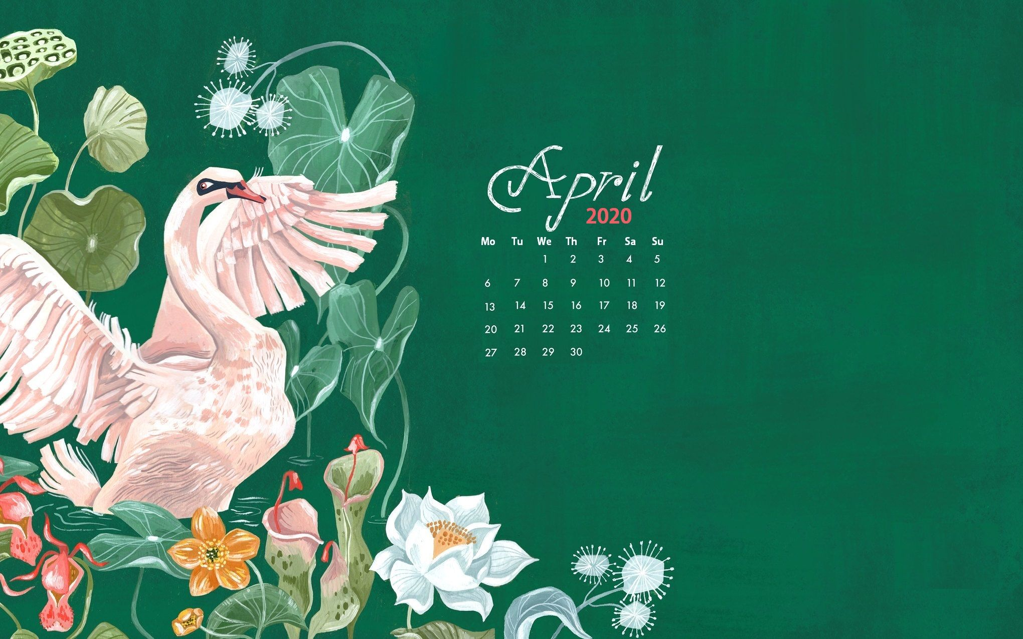 Free April 2020 Calendar Blank Printable Template Calendar