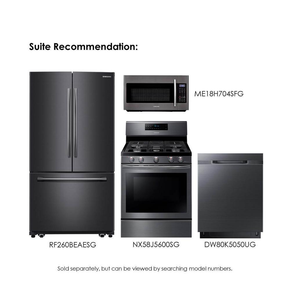 Samsung 25 5 Cu Ft French Door Refrigerator In Fingerprint Resistant Black Stainless In 2020 Black Appliances Kitchen Slate Appliances Kitchen Kitchen Appliance Set