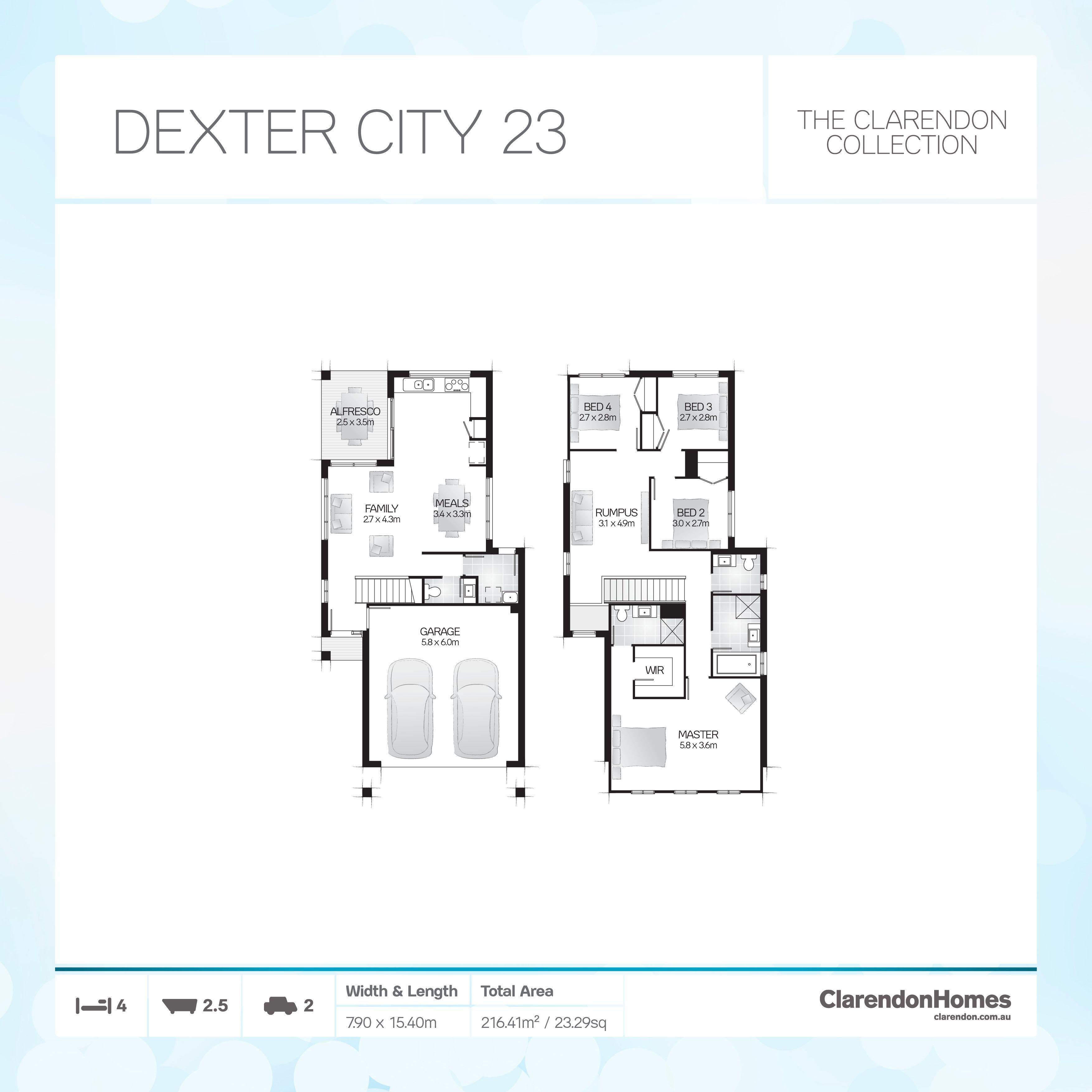 Clarendon Homes - City. Dexter City 23. Clever design - maximized ...