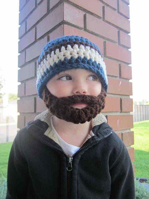 Kids ULTIMATE Bearded Beanie Windsor Blue Mix  0bb56ec69ef9