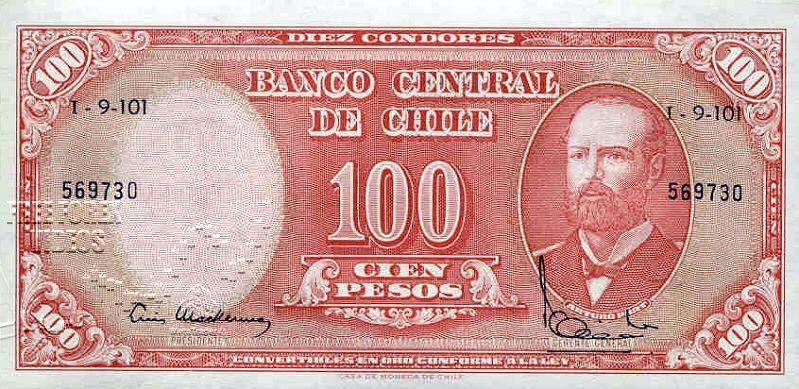 Chilean Peso Usd Clp Selos Moeda Estrangeira Moedas