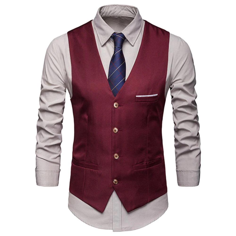 Chaleco De Vestir Para Hombres Ajustado Para Hombre Chaleco Para Traje Para Hombre Chaleco Gilet Homme Cas In 2020 Dress Suits For Men Mens Suit Vest Waistcoat Fashion