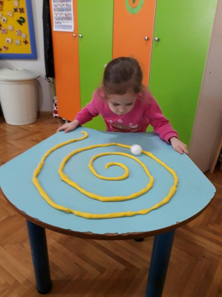 Blow On The Ping Pong Ball To Get It Through The Modeling Clay Maze Craftidea Org Toddler Learning Activities Toddler Activities Preschool Activities