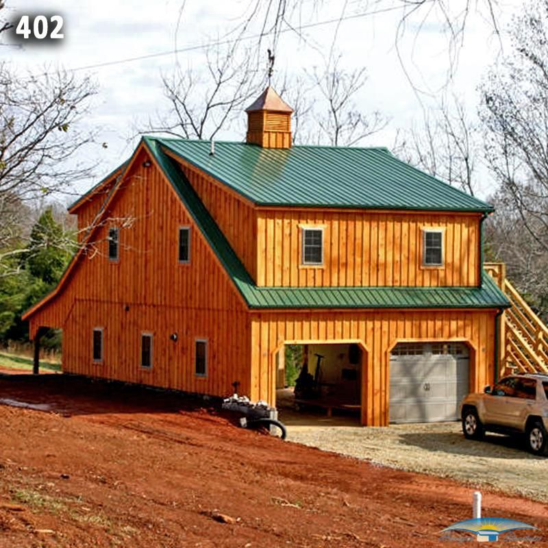 24x36 2 Car 2 Story Garage: 36x24 Two Car Two Story Modular Garage/Barn Combo