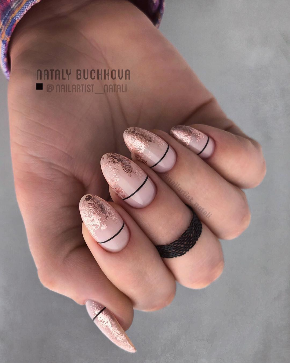 70 Attractive Oval Nail Art Designs And Ideas In 2019 In 2020