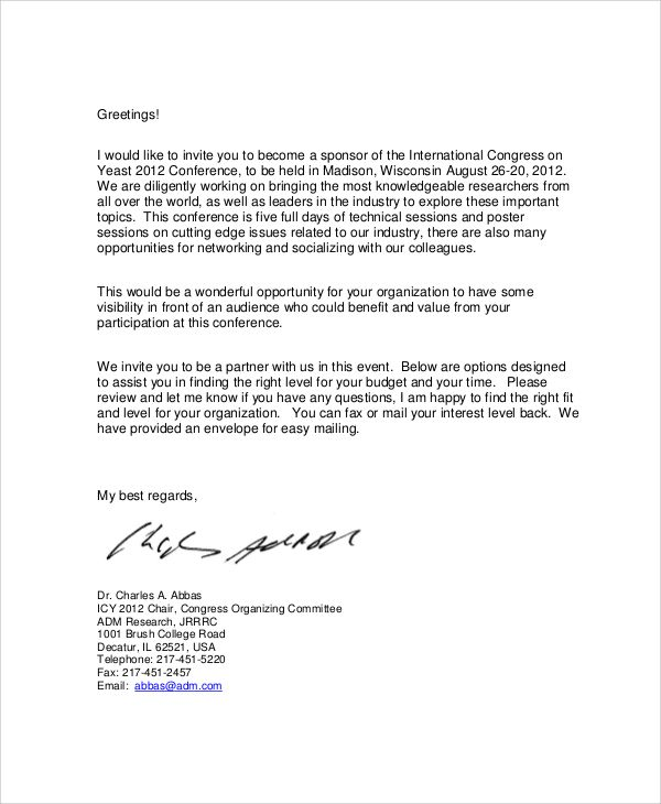 Corporate Sponsorship Letter Check more at