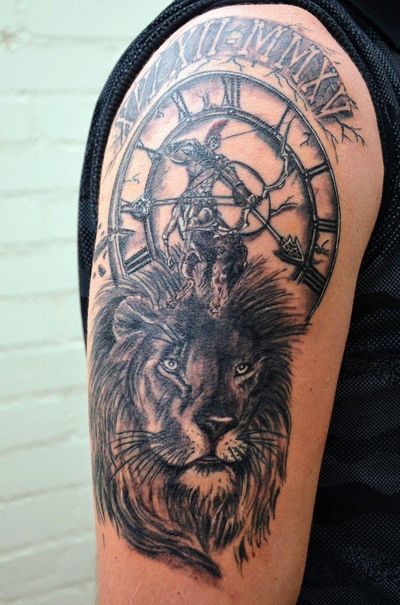 Tattoo Zodiac Sign Lion Sagittarius Clock Tattoos Tattoos