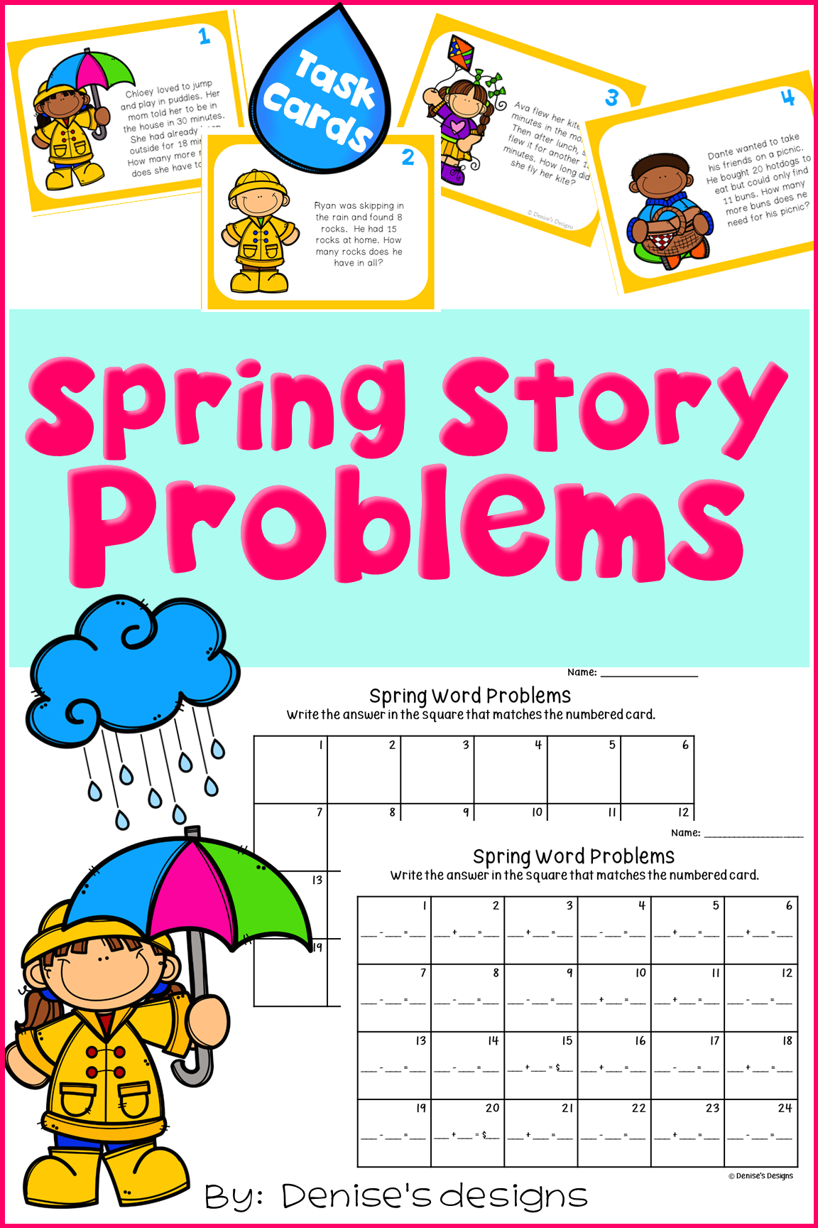 Math Word Problems - Addition and Subtraction | Word problems, Early ...
