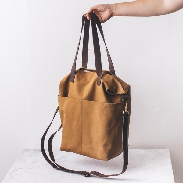 Crossbody Canvas Project Tote