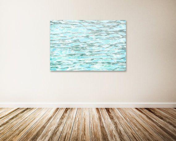 Water Ripples Canvas Art Baby Blue Wall Decor Water Art Ocean Canvas Art Blue Water Art Print The Refreshing Feel Of Summer Water Art Ocean Canvas Canvas Art