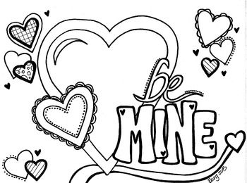 Be Mine Valentine Coloring Sheet Love Coloring Pages Valentines Day Coloring Page Valentine Coloring Sheets
