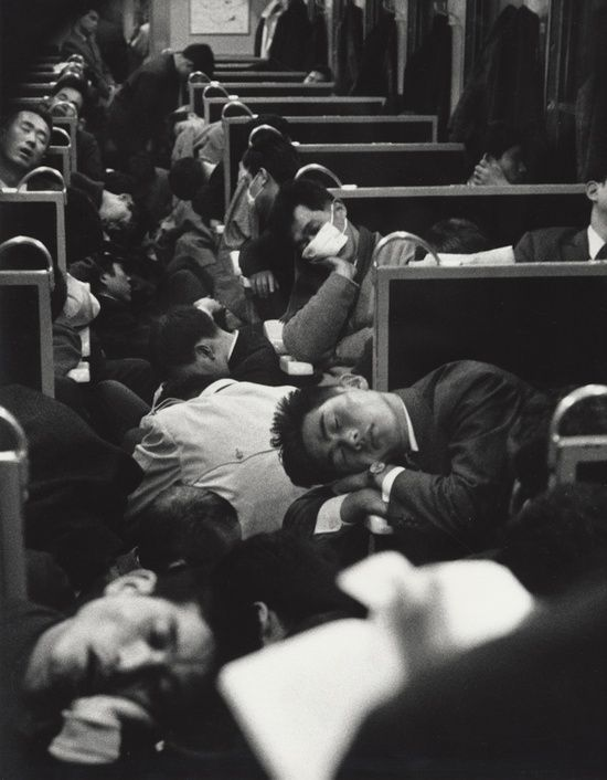 chromeus people sleeping on a night train in japan 1964 photo by