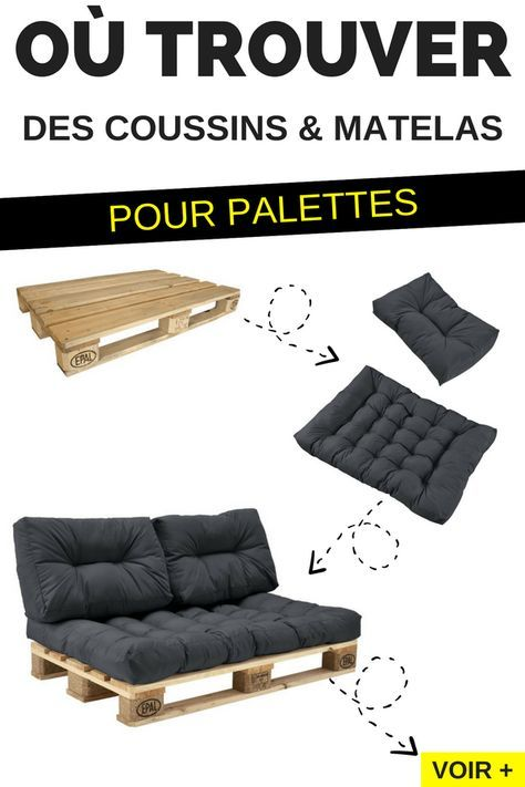 Ou Trouver Des Coussins Et Matelas Pour Fabriquer Des Meubles En Palettes Https Dormir Confortablement C Moveis De Paletes Moveis Decoracao Sofa De Paletes