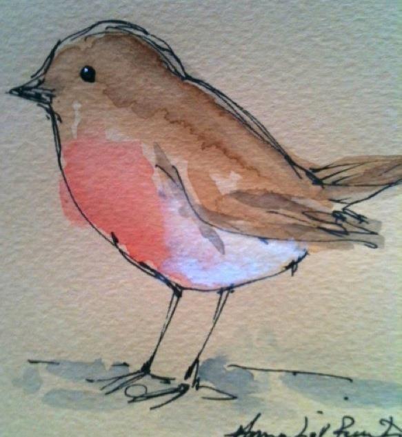 Annabel Burton Malen Aquarellmalerei Vogel Kunst Und Kunstwerke