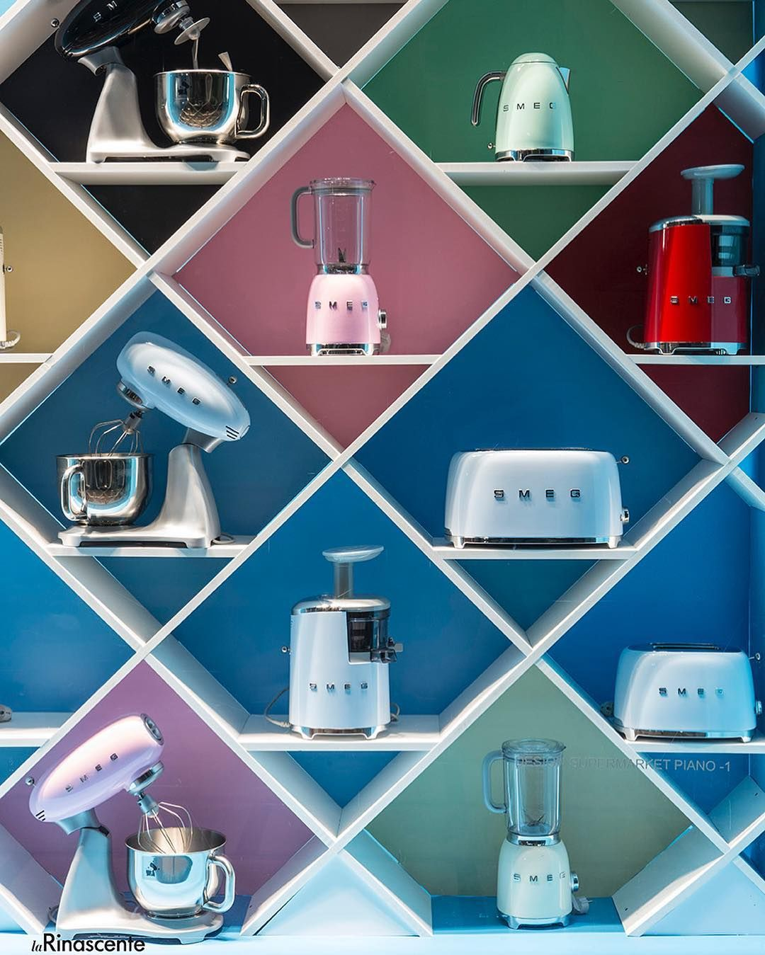 "Kitchen Window Display: LA RINASCENTE, Milan, Italy, ""Proudly On Display"", By SMEG"