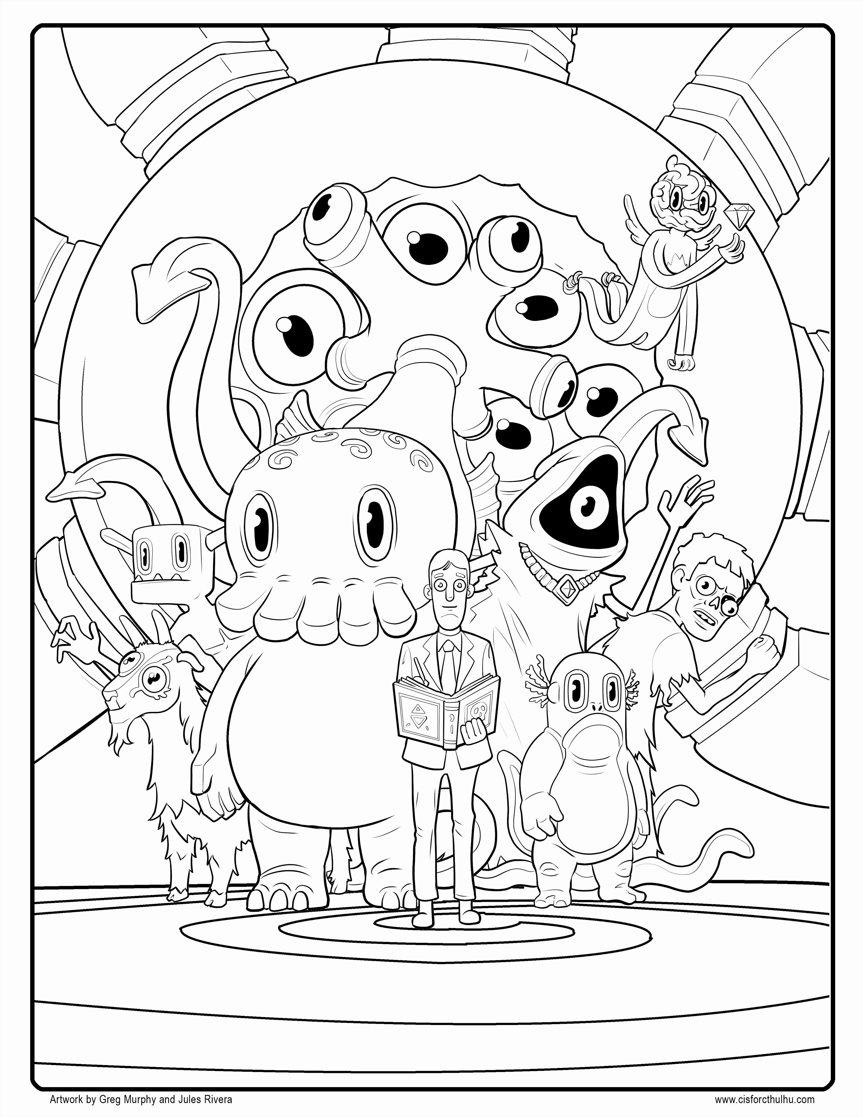 Pin Di Example Disney Coloring Pages [ 3850 x 2975 Pixel ]