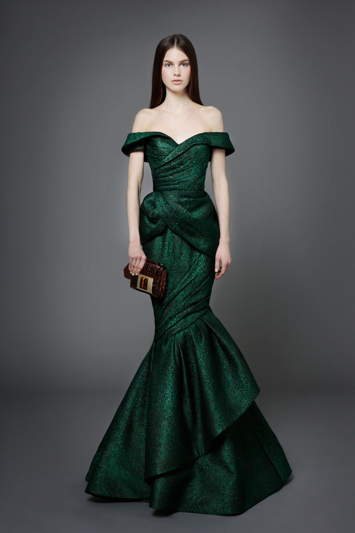 Emerald green dress for wedding  andrewgnx on FASHIONTOGRAPHER