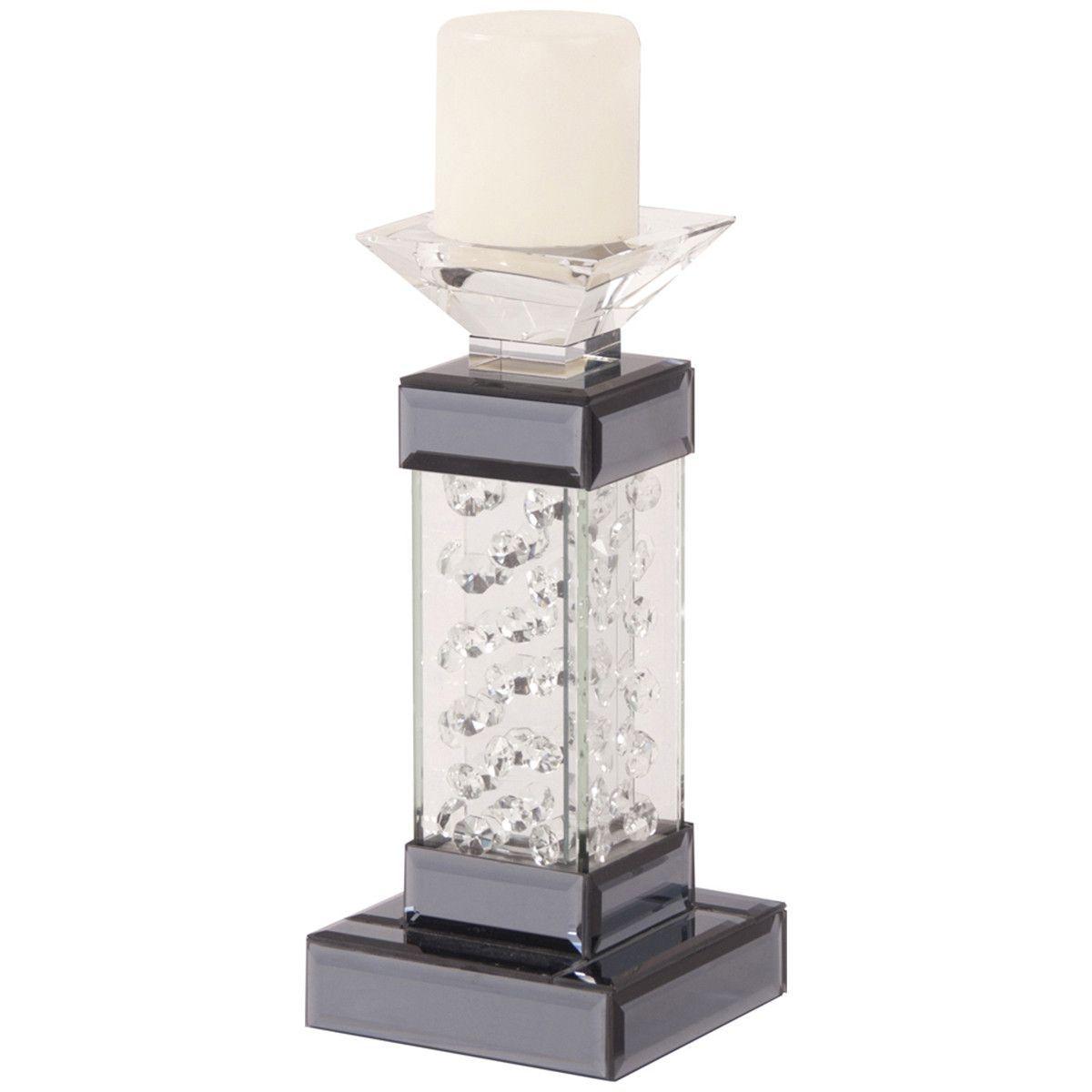 Howard Elliott Mirrored Pedestal Candleholder