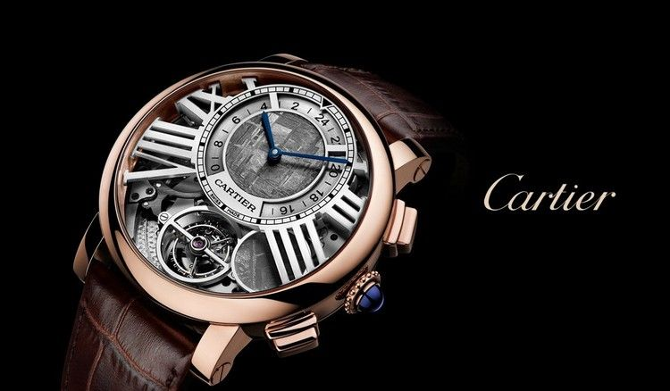 Cartier Mit Lederarmband Komplexenuhr Mit Vielen Details Uhren Herren Luxus Herrenuhren Uhrenmarken