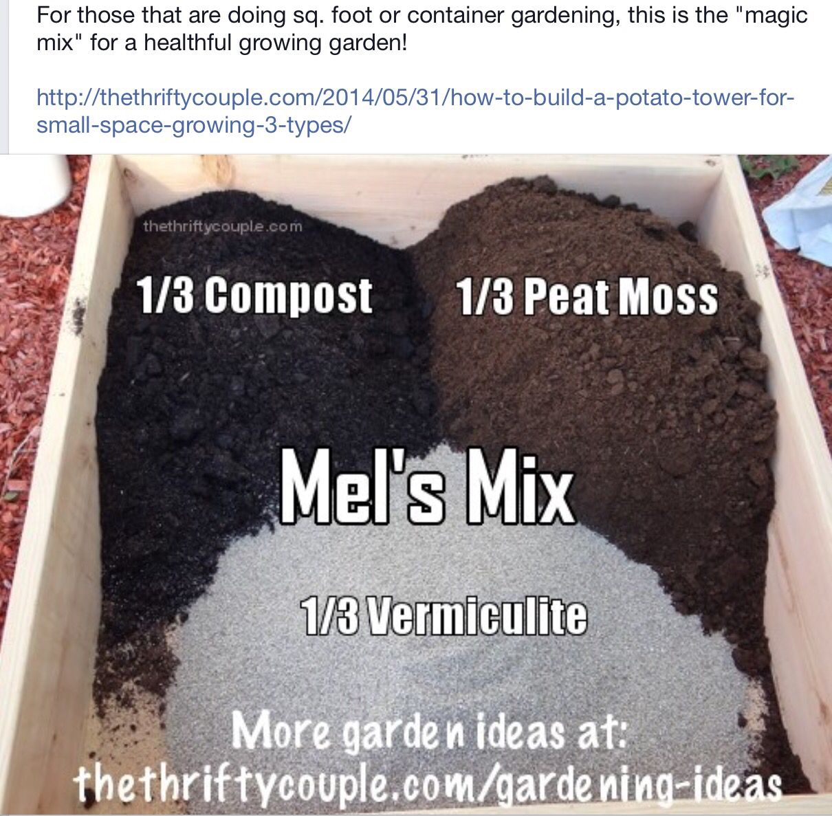 Perfect garden soil mix gardening yard ideas tips for Garden soil mix