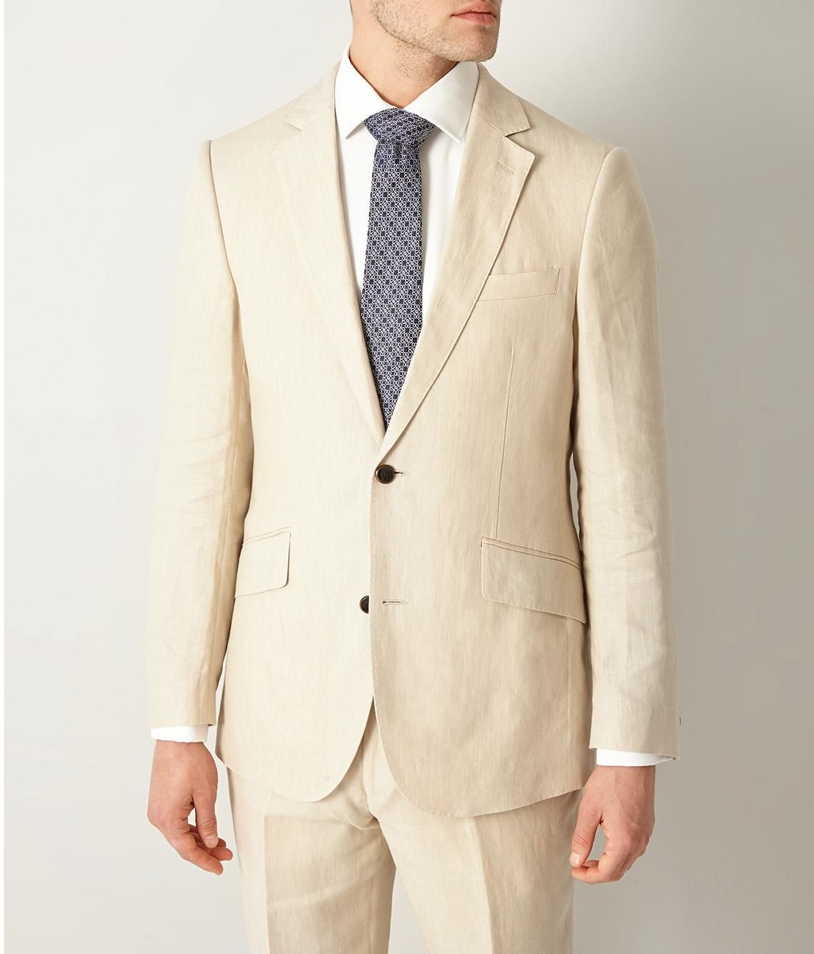 Contemporary Fit Beige Linen Suit Men S Suits Linen Suit Suits Clothes