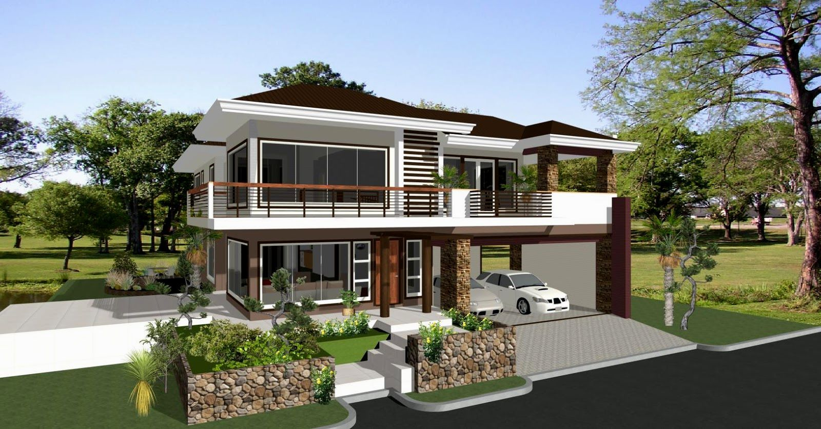 House designs and floor plans in the philippines for Home garden design in the philippines
