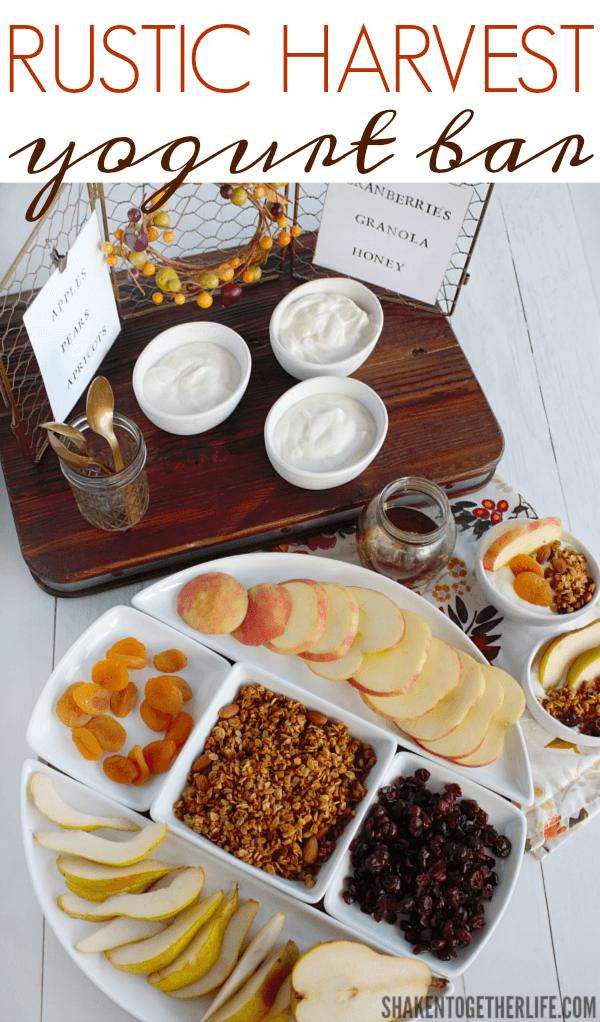 Rustic harvest yogurt bar for fall entertaining baos baos solutioingenieria Image collections