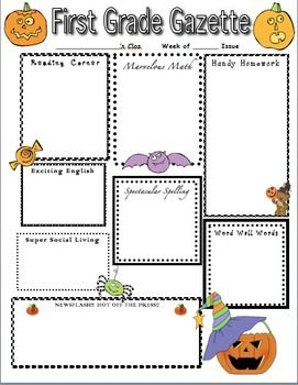 Haunting Halloween Home Learning Newsletter  Homework Class