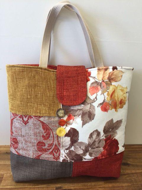 be23561e3 Upcycled Tote - upholstery fabric samples Bolsa De Mezclilla, Bolso  Bordado, Bolso Vaquero,