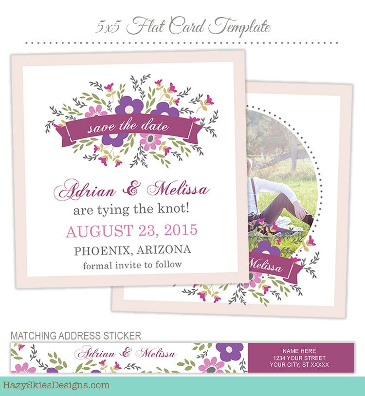 Save the Date Card Template for Photographers #save the date