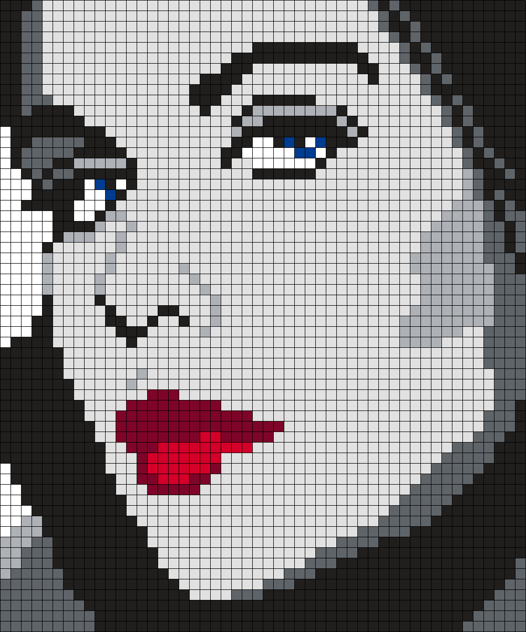 Elizabeth Montgomery #2 (50 X 60 Square Grid Pattern)   So sew fun ...