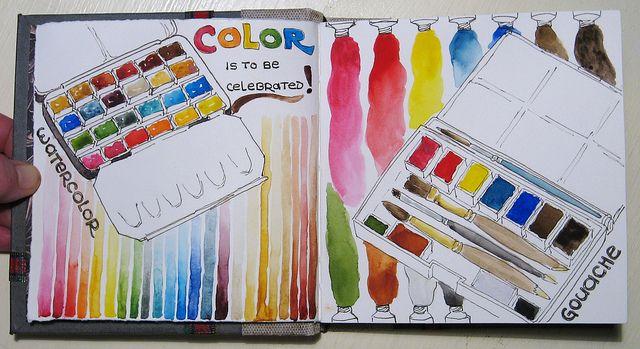 Sketchbook Idea Neat Color Wheel Art Lesson Ideas