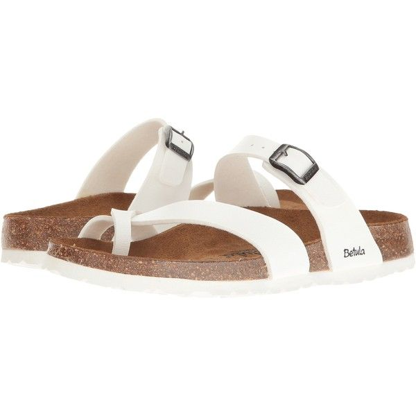 586247c362a9 Betula Licensed by Birkenstock Mia Birko-Flor (Basic White) Women s... ( 50)  ❤ liked on Polyvore featuring shoes