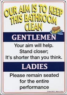 Bathroom Signs Keep Clean please keep this bathroom clean funny metal sign 8x12 | humor