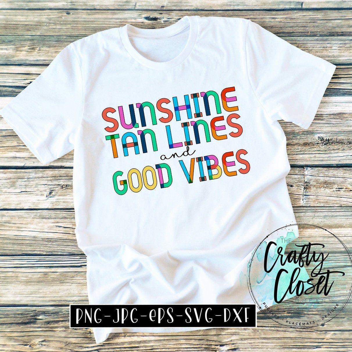 SUNSHINE, TANLINES, & GOODVIBES by CraftyClosetCompany on Etsy