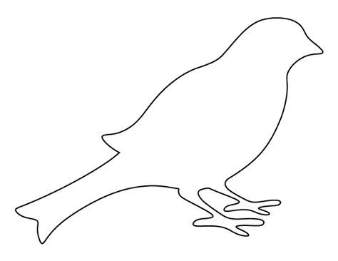 Bird Pattern. Use The Printable Outline For Crafts, Creating