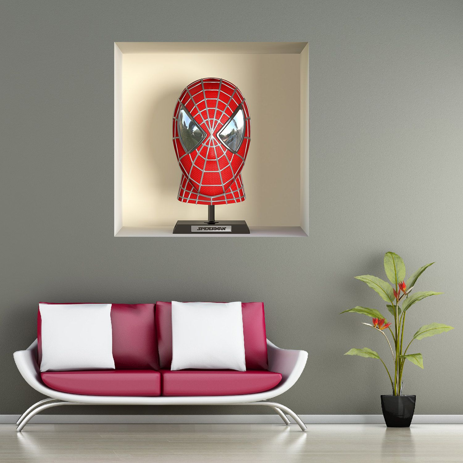 Wall decals 3d illusion spiderman a466 stickers 3d illusion stickers 3d illusion spiderman a466 wall decals 3d illusion spiderman a466 de la boutique funnywallstickers amipublicfo Choice Image