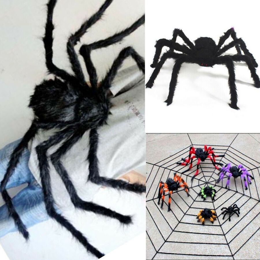 Spider Halloween Decoration Haunted House Prop Indoor Outdoor Black Giant Halloween Haunted House Decorations Halloween Spider Decorations Haunted House Props