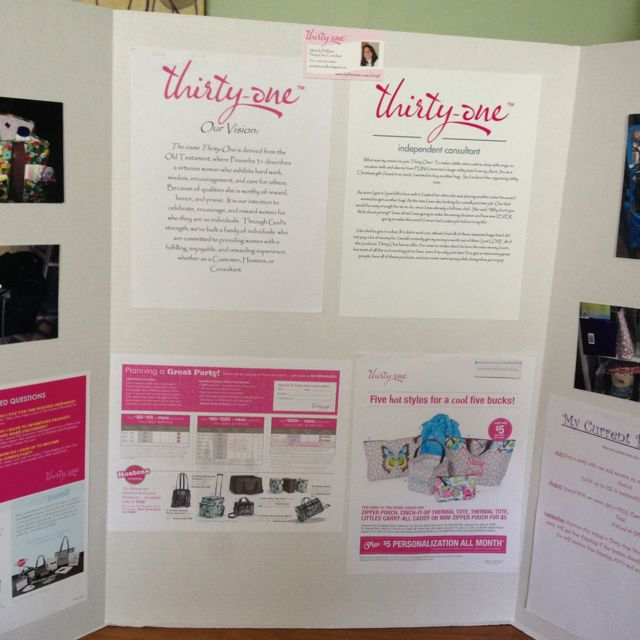 thirty one presentation board good for expos or display at your