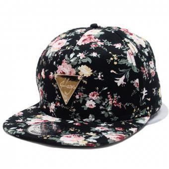 35eecb2cf Modaling Moda floral flor Snapback Hip-Hop Gorra Plana enarbolado ajustable  negro Gorra de béisbol