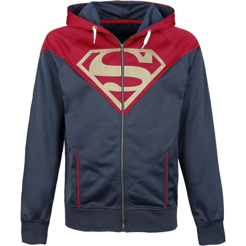 DC Comics-superman logo capuche sweat-shirt-capuche-bleu foncé