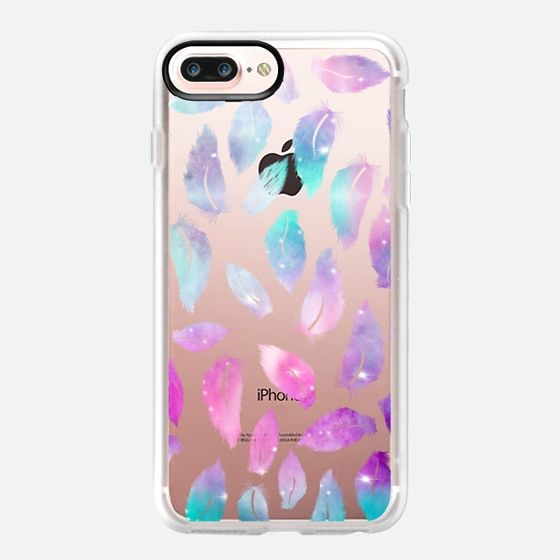Iphone 7 Plus Case Modern Pink Purple Watercolor Hand Painted