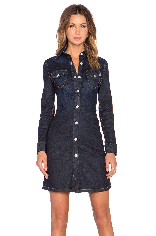 robe chemise en jean mode femme pinterest alexa chung classique et chemises. Black Bedroom Furniture Sets. Home Design Ideas