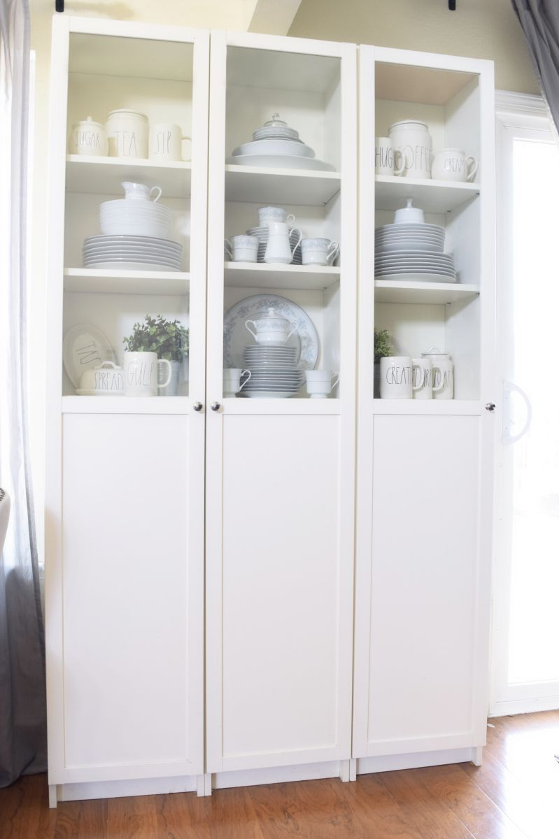 Our affordable ikea hacked repurposed china cabinet