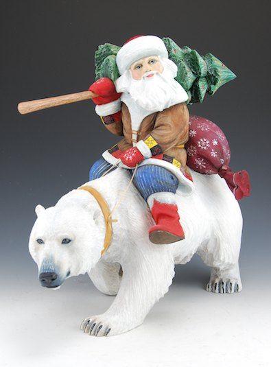 Polar Bear Cookie Cutter 4 inch  North Pole Christmas Santa